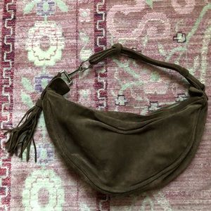 Fossils Small Suede Bucket Bag